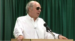 James Howard Kunstler at one of his many speaking engagements.