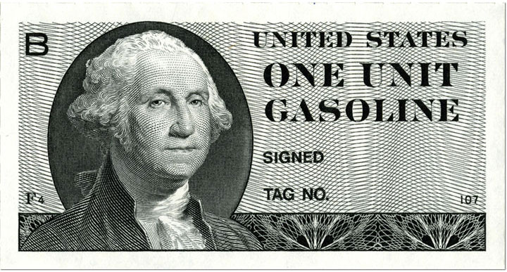 gas rationing coupon