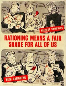 Food rationing poster
