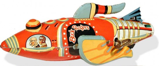 Buck Rogers spaceship cartoon