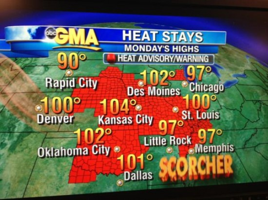GMA Heat Advisory screen