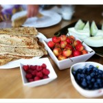 "Lisa Leake's breakfast for her guests included whole-wheat crepes, ""Ranier"" cherries, blueberries, raspberries, and melon. Photo: 100 Days of Real Food"