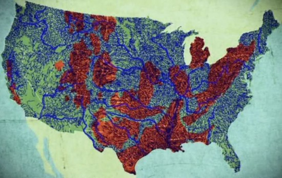 US fracking map