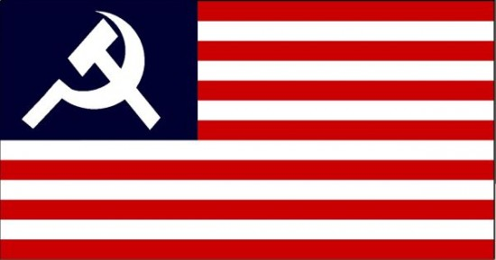 Communist USA flag