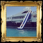 yacht waterslide